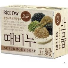 CJ Lion Скраб-мыло туалетное Rice Day с экстрактом пяти злаков, 100 г