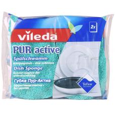 Vileda, губка для посуды ПУР-Актив, 2 шт