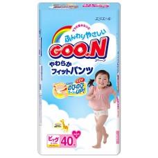 GooN трусики для девочек XL (12-20 кг) 38 шт