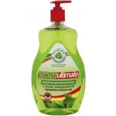 """Mama Ultimate Концентрированное средство для мытья посуды и детских принадлежностей """"Зеленый чай"""", 1000 мл"""
