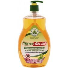 """Mama Ultimate Концентрированное средство для мытья посуды и детских принадлежностей """"Японский Абрикос"""", 1000 мл"""