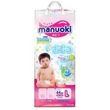Manuoki подгузники размер L (12+ кг) 44 шт