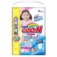 GooN трусики  для девочек, размер L (9-14 кг) 56 шт