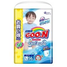 GooN трусики  для мальчиков, размер L (9-14 кг) 56 шт