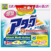 Attack, Multi-Action стиральный порошок с кислородным пятновыводителем и кондиционером, 0,9 кг