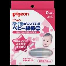 Pigeon, палочки ватные с масляной пропиткой, 50 шт