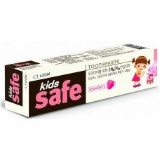 CJ Lion Kids Safe Зубная паста детская Клубника, от 3-х до 12 лет, 90 г
