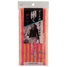 Kokubo Мочалка массажная женская для тела с акриловыми волокнами 20*100 см