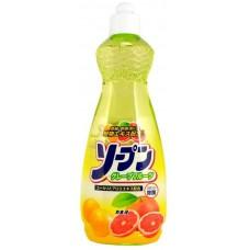 Kaneyo Жидкость для мытья посуды, овощей и фруктов, Грейпфрут, 600 мл