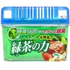 KOKUBO Дезодорант-поглотитель неприятных запахов, экстракт зелёного чая, для холод.(общая камера),150 г