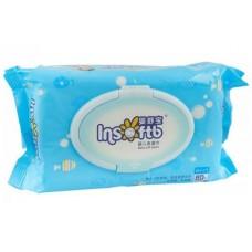 Insoftb детские влажные салфетки, без запаха, 80 шт