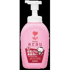 Saraya Arau Baby, жидкость для мытья детской посуды, флакон-дозатор, 500 мл