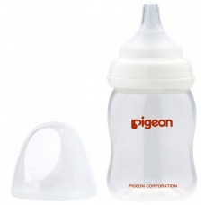 Pigeon Бутылочка для кормления Перистальтик Плюс, с широким горлышком, 160 мл