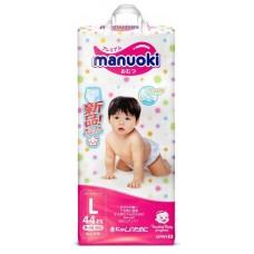 Manuoki, подгузники-трусики, размер L (9-14 кг) 44 шт.