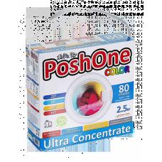 Posh one, Концентрированный стиральный порошок COLOR с мерной ложечкой, 2,5 кг