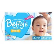 Beffy's, extra dry Подгузники S (3-8 кг), 50 шт