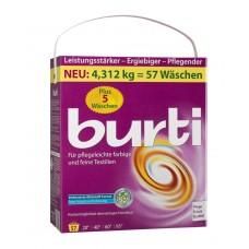 Burti, стиральный порошок для цветного и тонкого белья, 4.312 кг