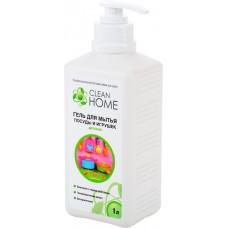 Clean Home Гель для мытья детской посуды и игрушек с дозатором, 1 л