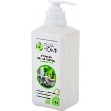 Clean Home Гель для мытья посуды универсальный, с дозатором, 1 л