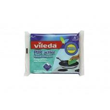 Vileda, губка для плит ПУР-Актив, 2 шт