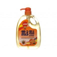 """Mama Lemon, Концентрированное средство для мытья посуды """"Антибактериальный"""" с ароматом апельсина 1 л."""