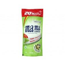 Mama Lemon Концентрированное средство для мытья посуды Зеленый чай запасной блок 600 мл.