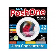 Posh one, Концентрированный стиральный порошок BLACK с мерной ложечкой, 1 кг