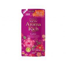 Lion Aroma RICH Scarlett, кондиционер для белья с цветочно-фруктовым ароматом, зап.блок 450 мл