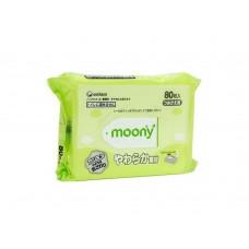 Moony, влажные мягкие салфетки для детей, запасной блок, 80 шт