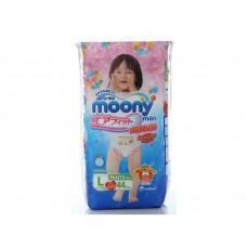 Moony, трусики для девочек L (9-14 кг), 44 шт
