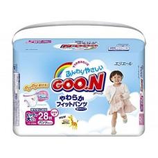 GooN, трусики для девочек XXL (13-25 кг), 28 шт