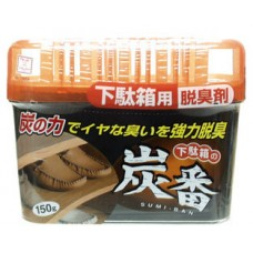 KOKUBO Дезодорант-поглотитель неприятных запахов, с древесным углём, для обувных шкафов, 150 г